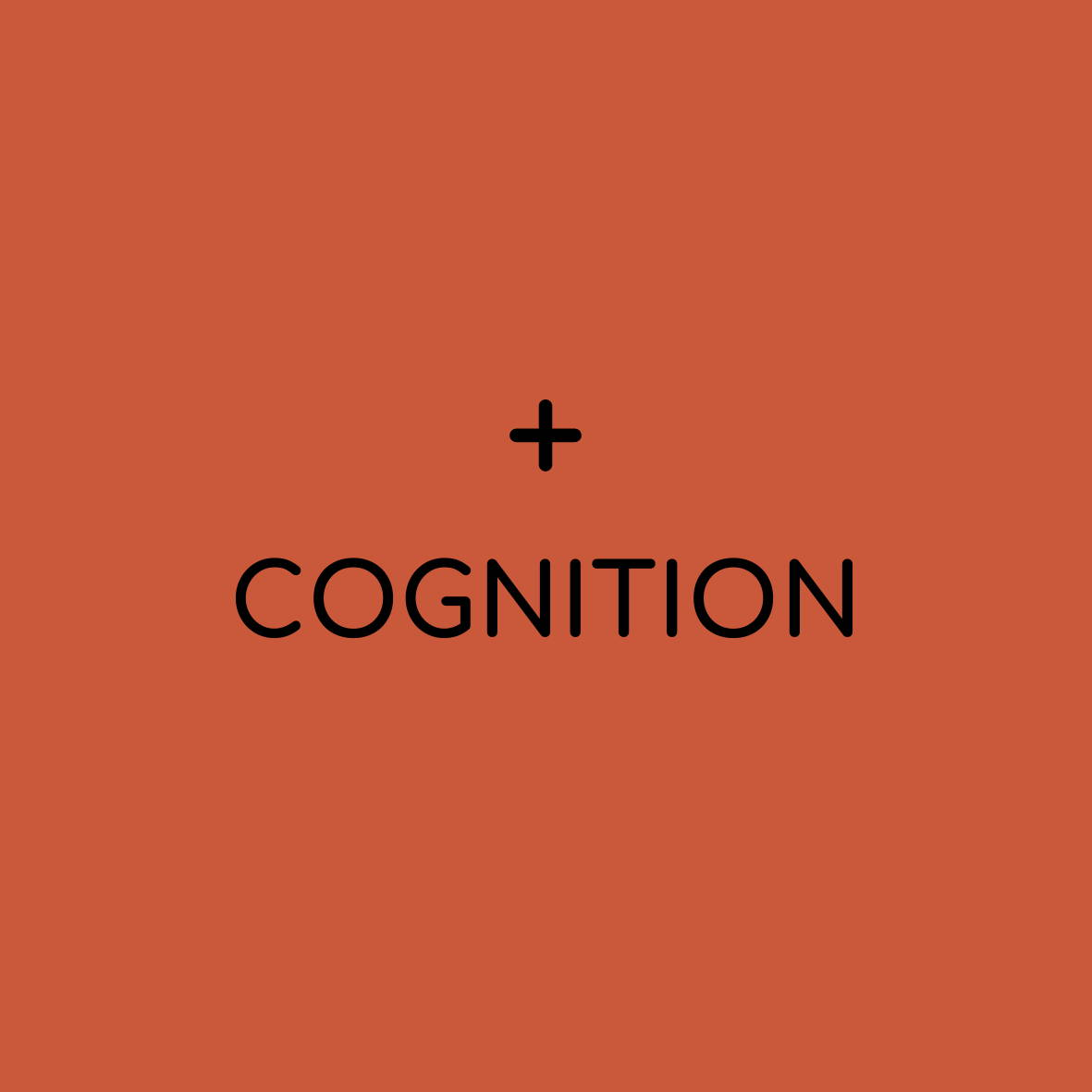 "solid background with plus sign and ""cognition"""