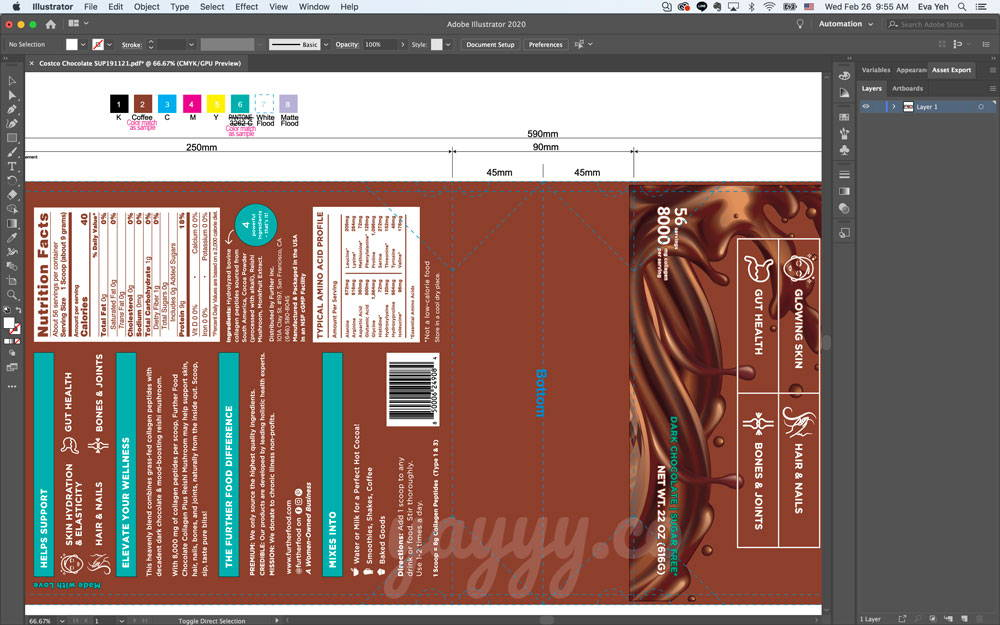 Yayyy - Further Food Chocolate bag print layout