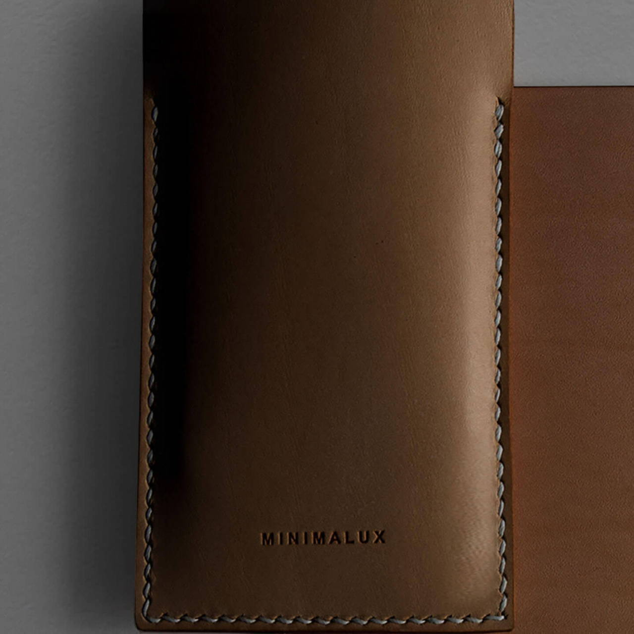 Leather Phone Sleeve aged
