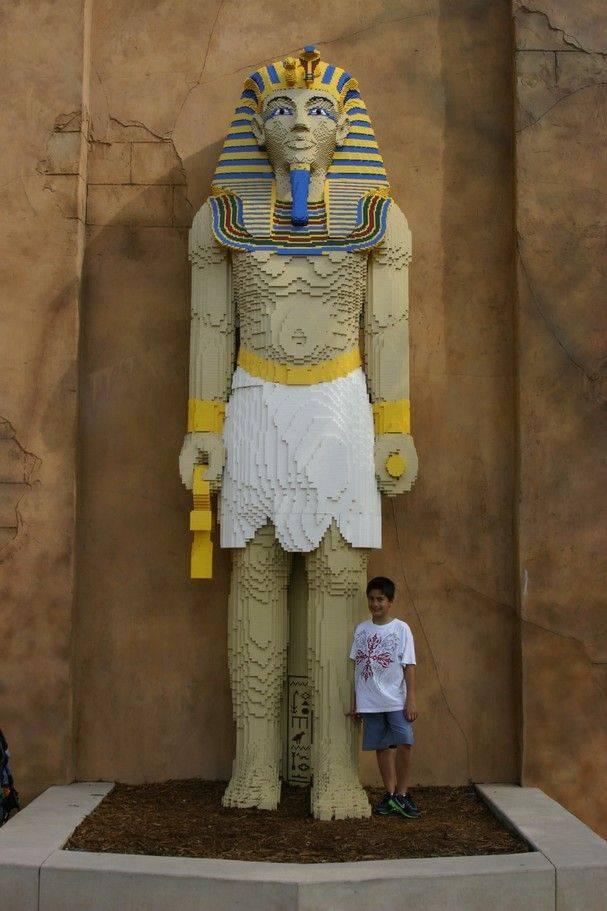 Giant LEGO Pharaoh Sculpture