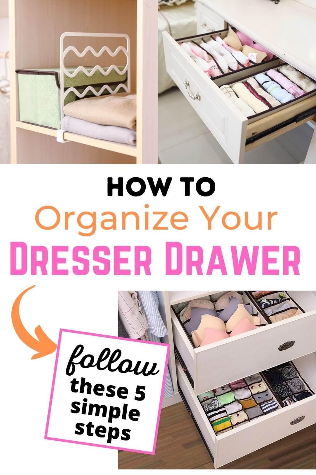clothes drawer organization