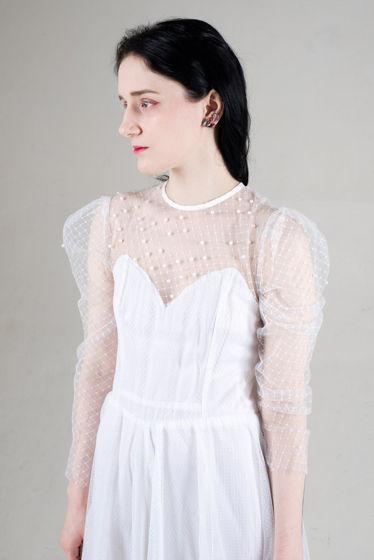 Винтажное свадебное многоярусное платье-сетка с вышивкой бусинами, найдено в СПб