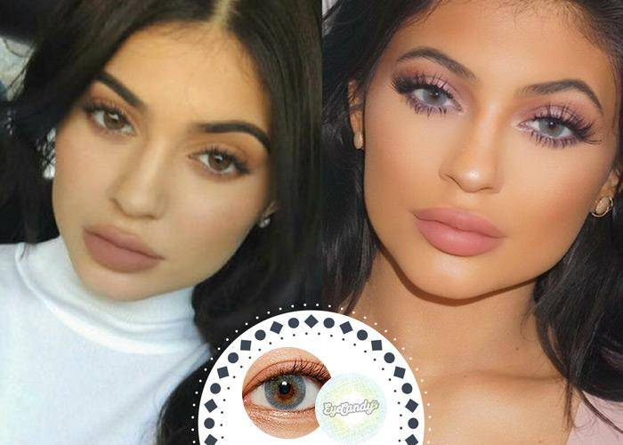 Celebrities Coloured Contacts Before After Pictures