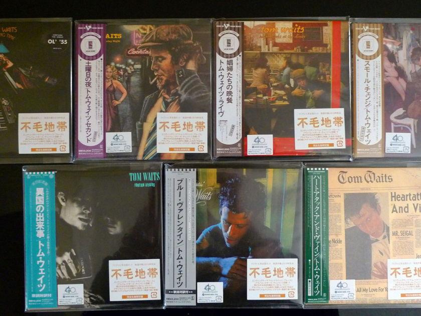 Tom Waits - OOP Japan Mini-LP 7 CD Set Isao Kikuchi Remasters