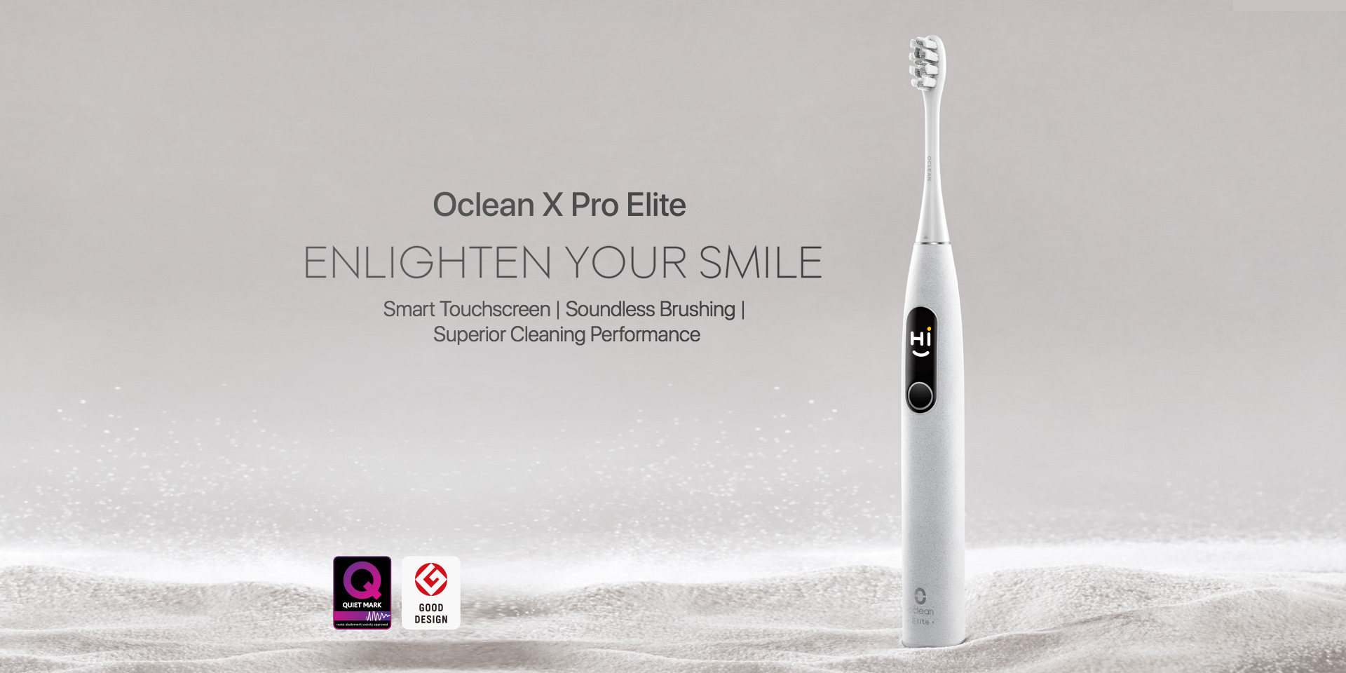 oclean X pro Elite englighien your smile