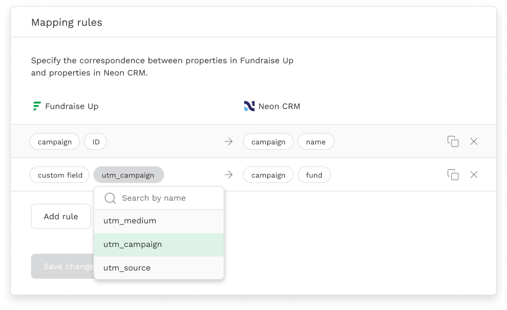 NeonCRM Mapping