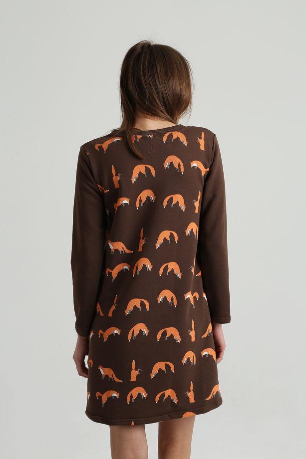 Платье с лисами
