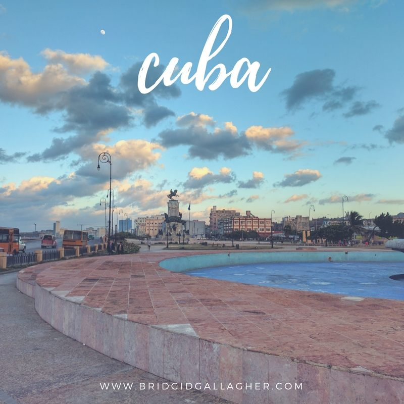 Photo of a plaza in Havana, Cuba // www.bridgidgallagher.com