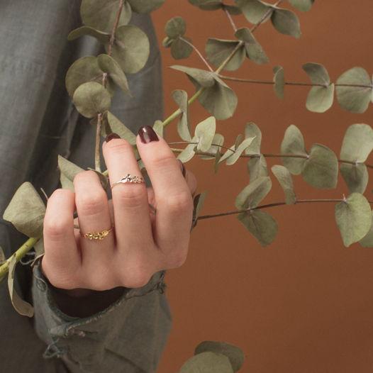 Кольцо 'Nature' серебро