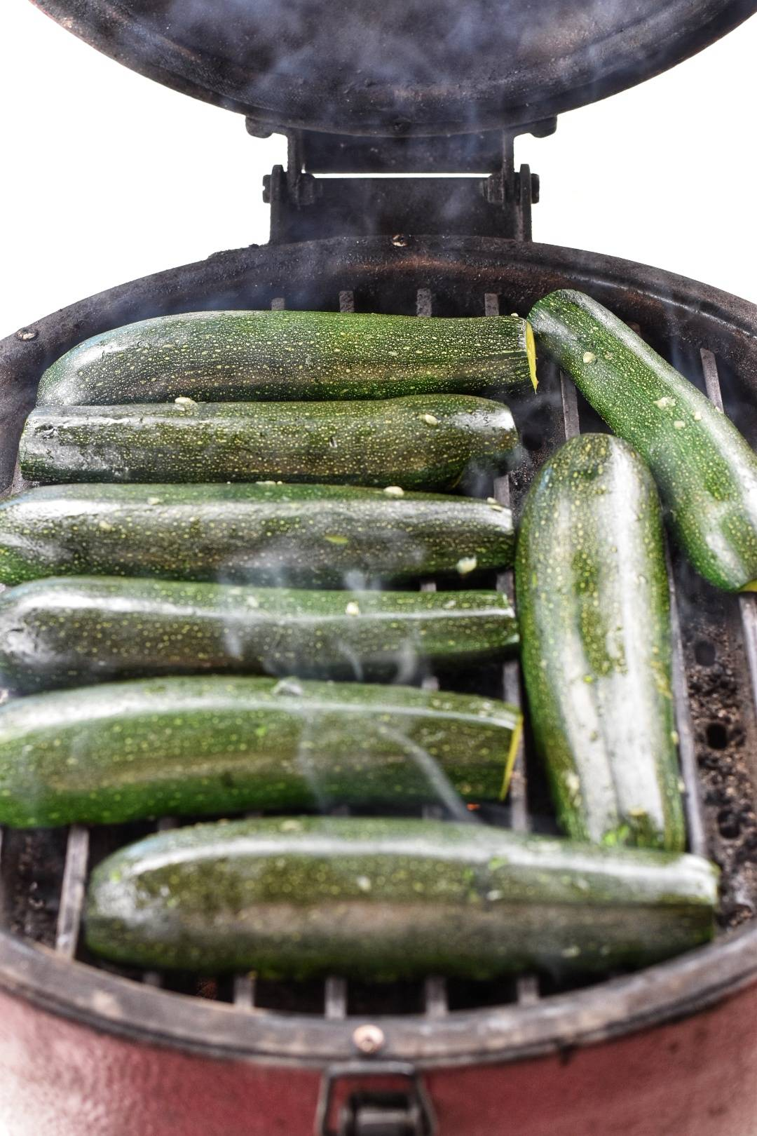 Zucchini boats on grill