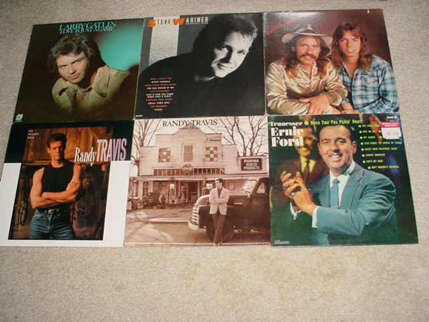 COUNTRY MUSIC SOUTHERN - LOT OF 14 LP RECORDS