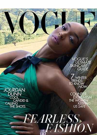Vogue Magazine cover - featuring VENeffect Skin Care