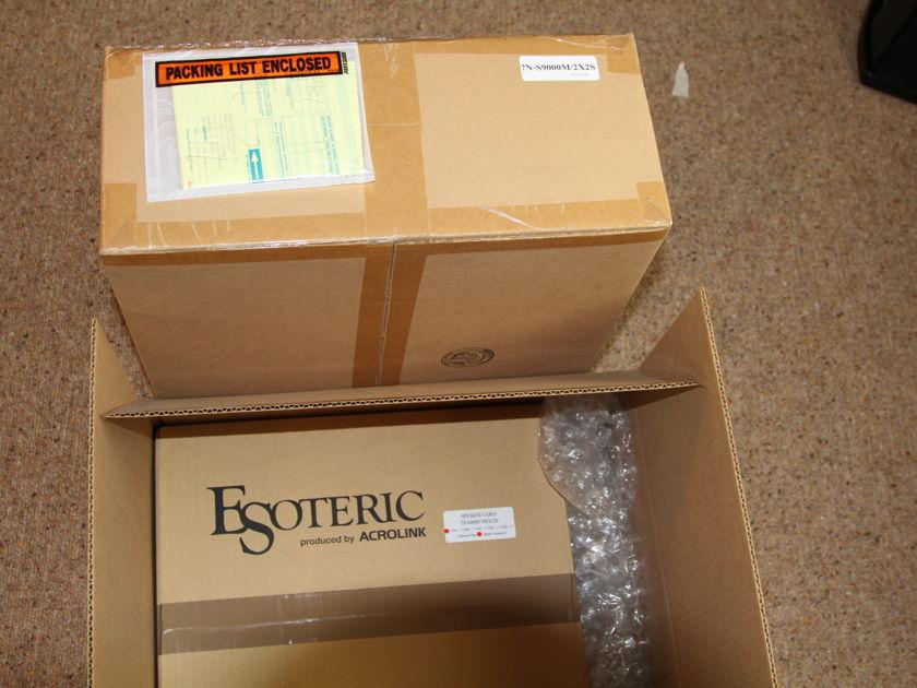 Esoteric/Acrolink 7N-S9000   Speaker Cable 2 meters with spades bi-wire