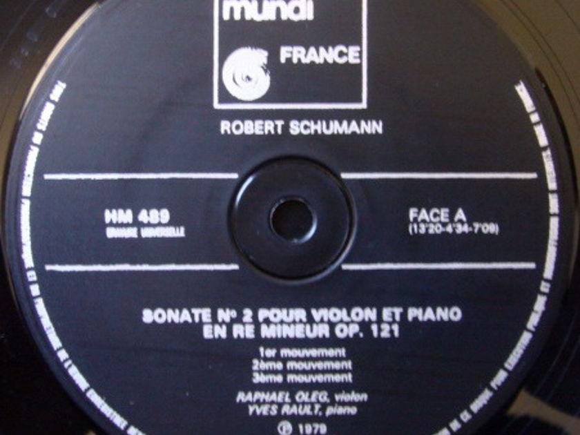 ★Audiophile★ Harmonia Mundi / OLEG-RAULT, - Schumann Violin Sonatas No.1 & 2, NM!