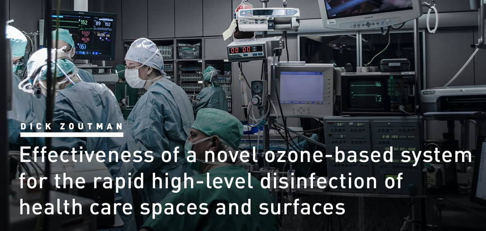 effective-ozone-based system for disinfection of health care space and surfaces