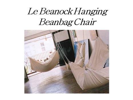 Le Beanock Hanging Beanbag Chair