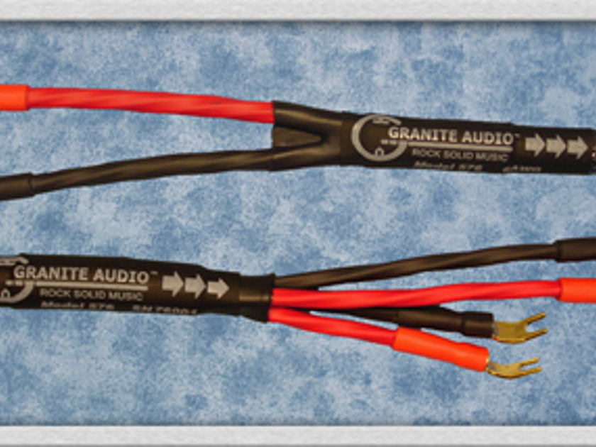Granite Audio 570 - 10AWG Speaker Cable 8Ft. Pair.  New 2012 Product.  NIB.