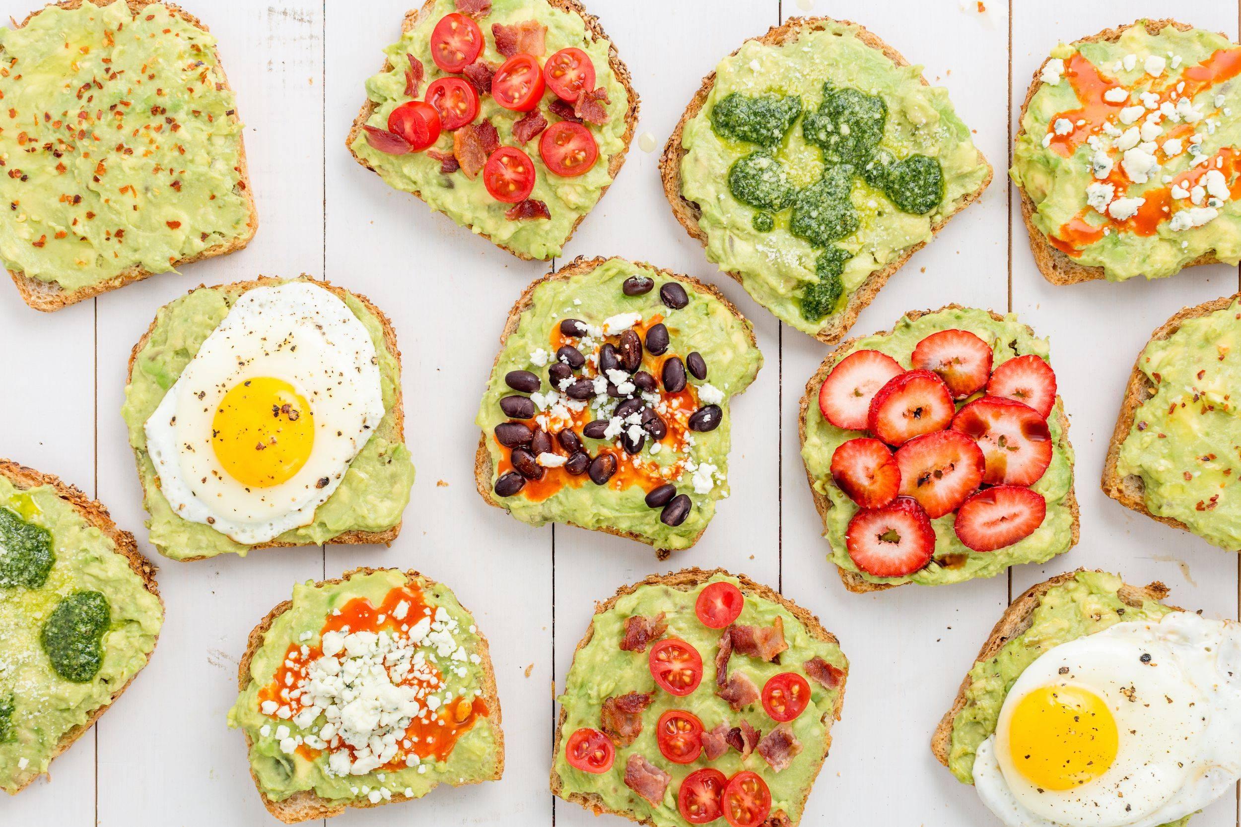 Avocado Toast Toppings Cheat Sheet