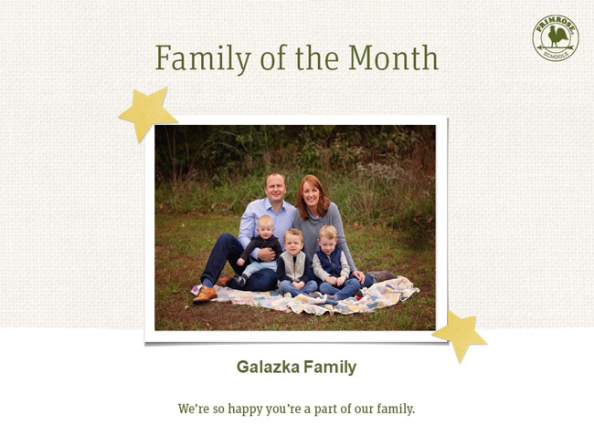 preschool family of the month