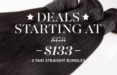 Shop Yaki Straight Hair 3 Bundle Deal