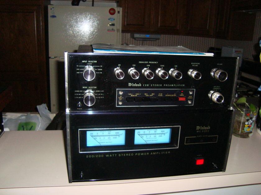 McIntosh MC-2002 C-28 amp and preamp Legendary Mac quality