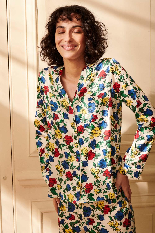 Dakota Meadow Women's Classic Silk Pyjama Set | Silk Pyjama Sets | YOLKE