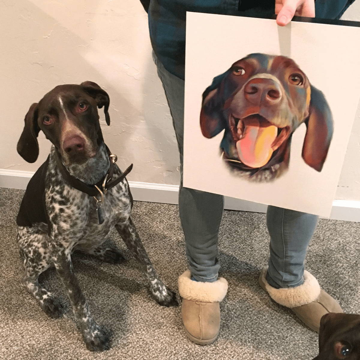 My pooch face painting with dog