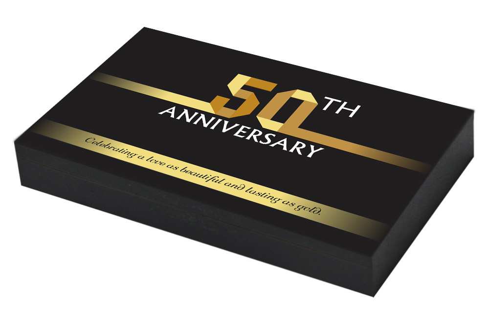 Golden Invitation for 50th Anniversary