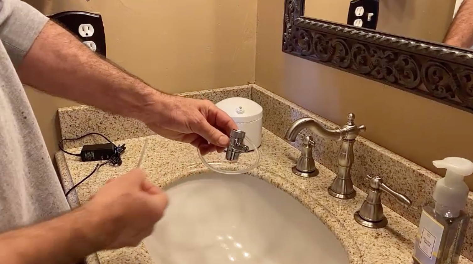 install an aquapurr at a leisurely pace on a bathroom faucet