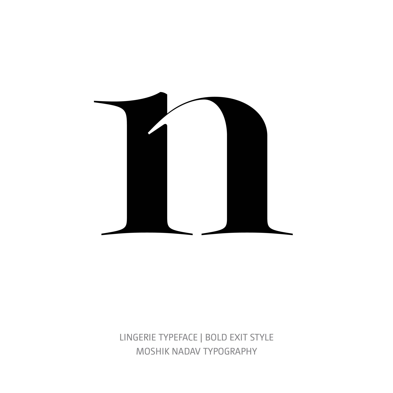 Lingerie Typeface Bold Exit n