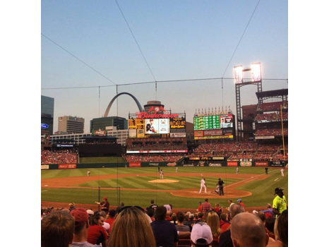 4 infield field box (section 152) tickets to a St. Louis Cardinals home game