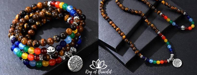 Bracelet Mala Arbre de Vie et 7 Chakras - King of Bracelet