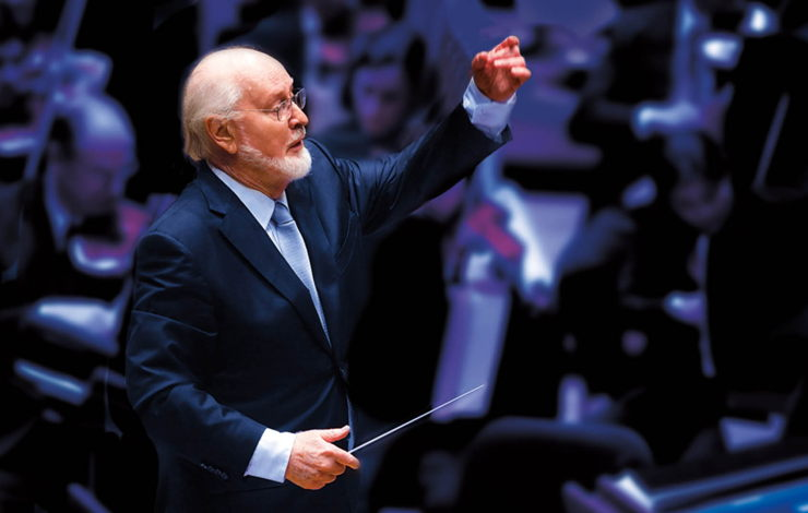 John Williams conducting at the Hollywood Bowl