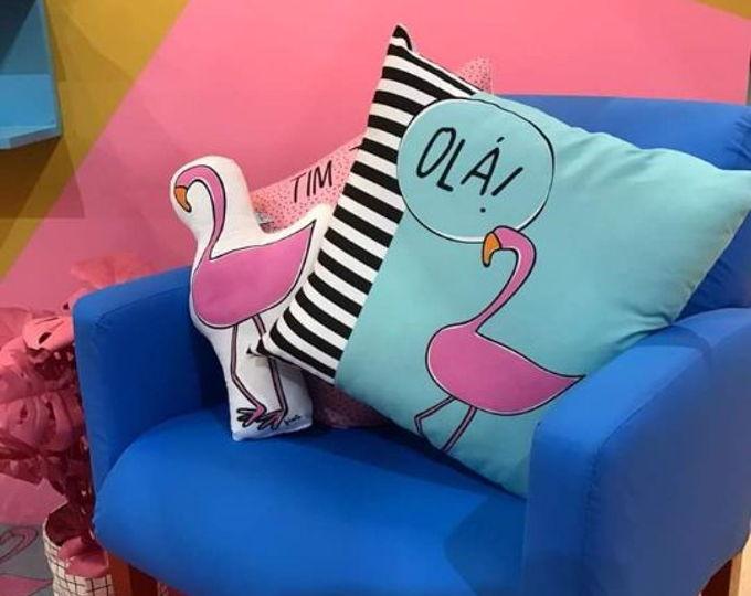 Almofadas flamingo