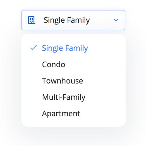Example of RentCast property types