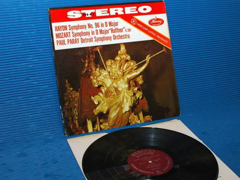 "HAYDN/MOZART/Paray - - ""Symphony 96 & D Major(Haffner) - Mercury Living Presence 1960 very early pressing"