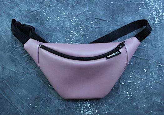 Сумочка сумка поясная пыльно-розовая