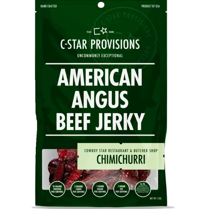C-Star Provisions Angus Beef Jerky Chimichurri Low Sodium