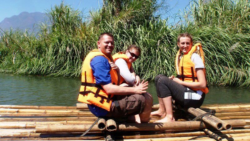 Bamboo raft, Thailand