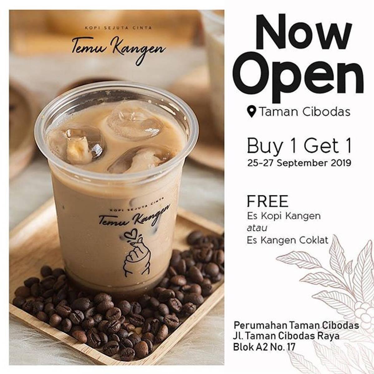 Katalog Promo: Kopi Temu Kangen: PROMO Buy 1 Get 1 FREE Opening Taman Cibodas! - 1