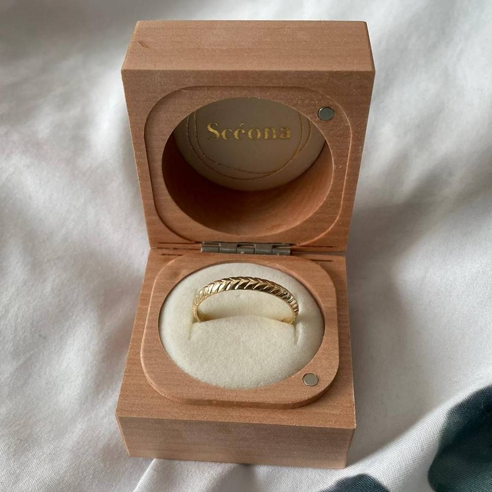 custom recycled gold wedding band by sceona