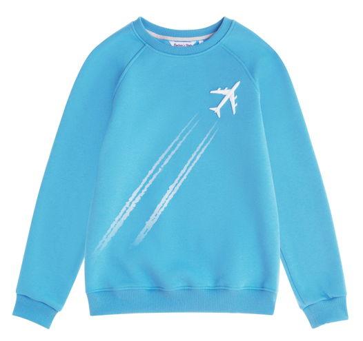 Голубой cвитшот Sky с самолетом