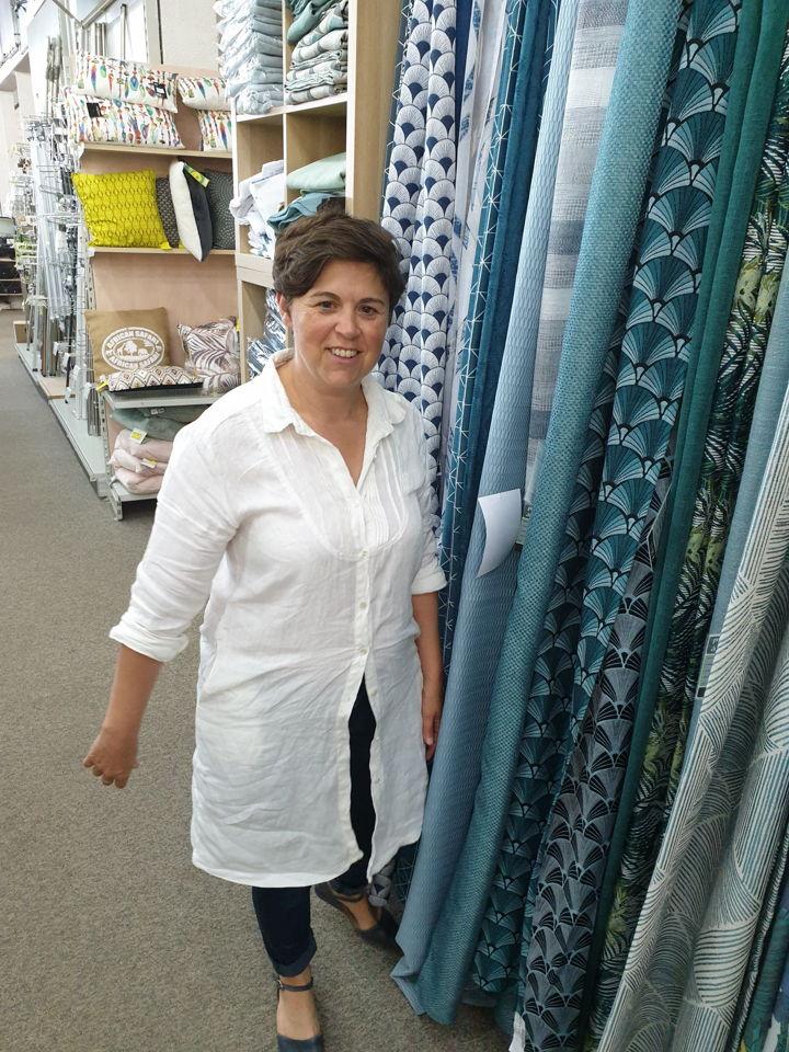 Sandra Jamet la gérante d'Espace Revêtements