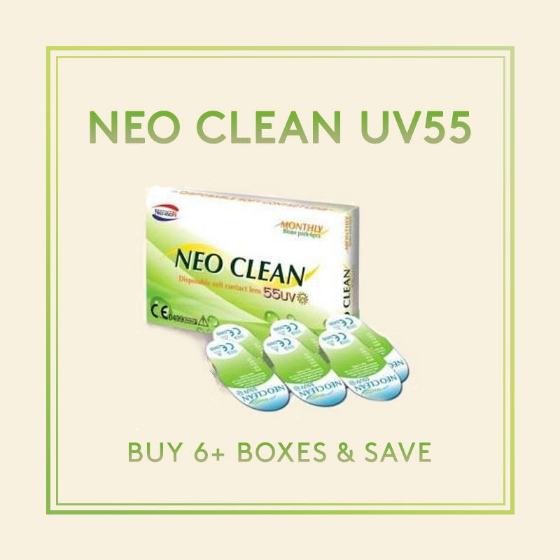 NEO Clean UV55 Monthly contact lenses