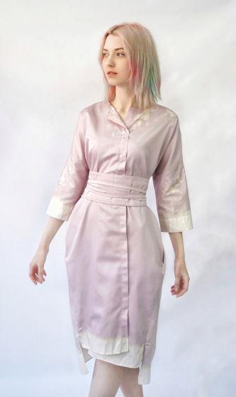 Платье Кимоно | розовый