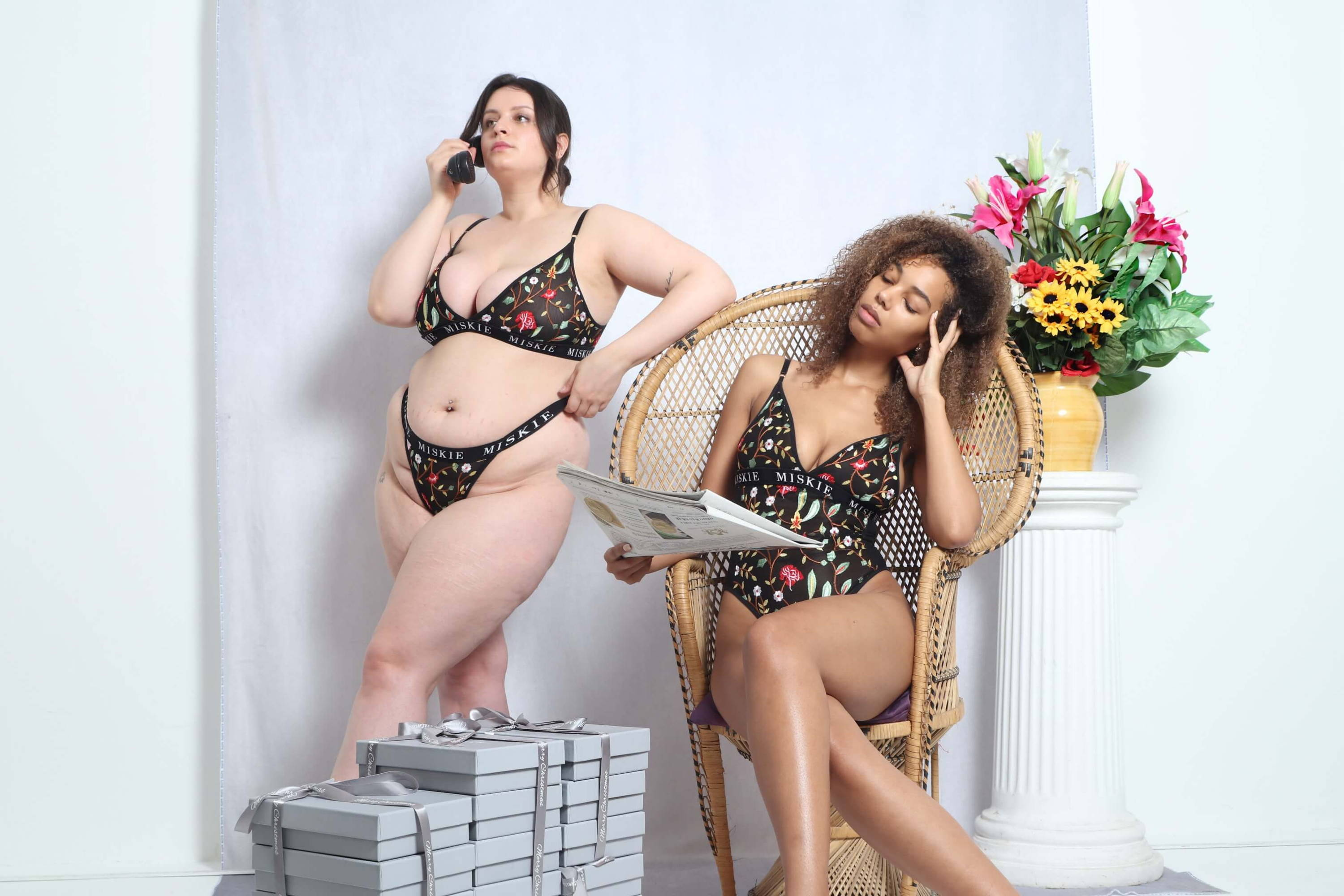 miskie london lingerie embroidered floret collection
