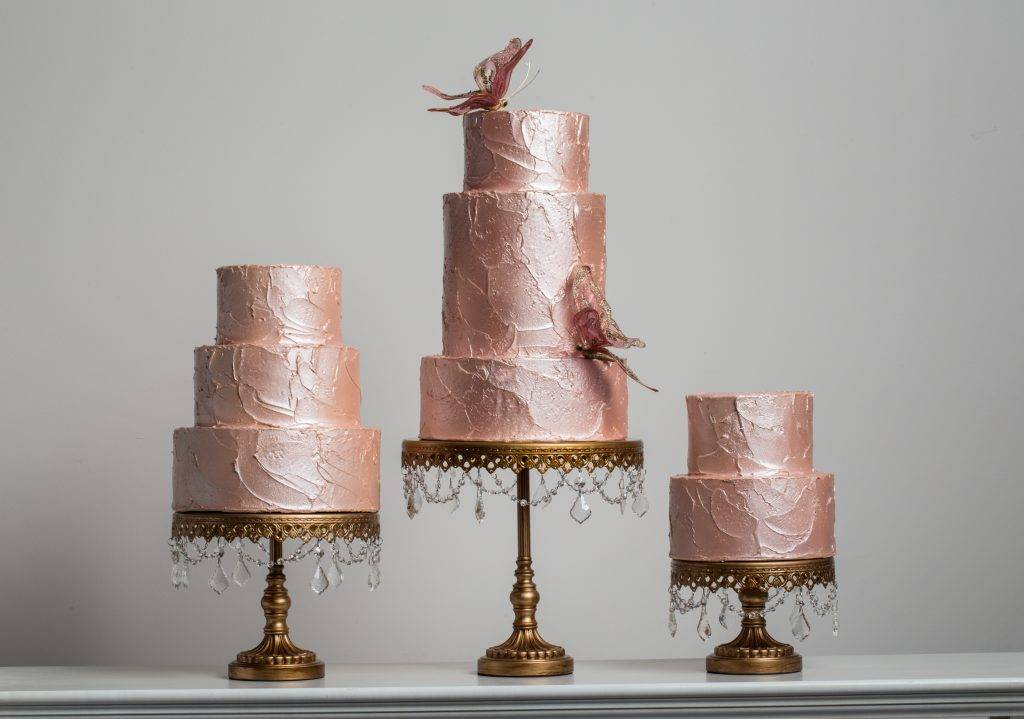 Marbled and Iced Wedding cakes at House of Clarendon in Lancaster, PA
