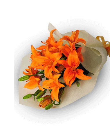 HF Orange liliy Bouquet