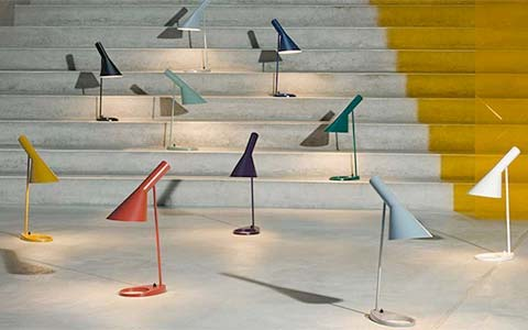 Louis Poulsen AJ Lamps featuring all new colorways