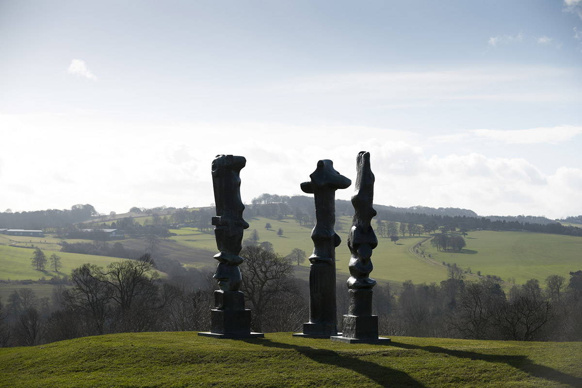 Henry Moore, Upright Motives Yorkshire Sculpture Park